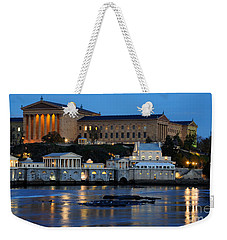 Philadelphia Art Museum And Fairmount Water Works Weekender Tote Bag by Gary Whitton