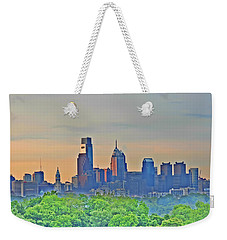 Philadelphia At Sunrise Weekender Tote Bag by Bill Cannon