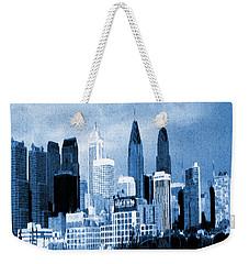 Philadelphia Blue - Watercolor Weekender Tote Bag