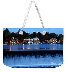 Philadelphia Boathouse Row At Twilight Weekender Tote Bag