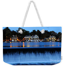 Philadelphia Boathouse Row At Twilight Weekender Tote Bag