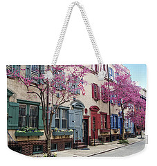 Weekender Tote Bag featuring the photograph Philadelphia Blossoming In The Spring by Bill Cannon