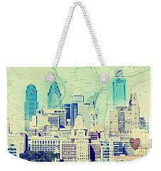 Philadelphia Cityscape Weekender Tote Bag