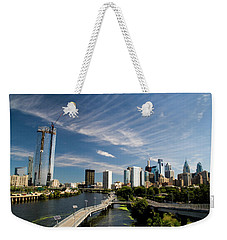Philadelphia From The Schuylkill Weekender Tote Bag