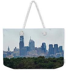 Philadelphia Green Skyline Weekender Tote Bag