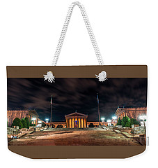 Weekender Tote Bag featuring the photograph Philadelphia Museum Of Art by Marvin Spates