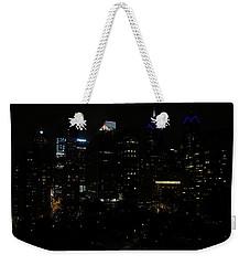 Philadelphia Night Lights Weekender Tote Bag by Rona Black