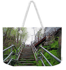 Weekender Tote Bag featuring the photograph Philadelphia - Roxborough Avenue Steps by Bill Cannon