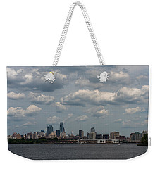 Philadelphia Skyline Across The Delaware River Weekender Tote Bag by Terry DeLuco