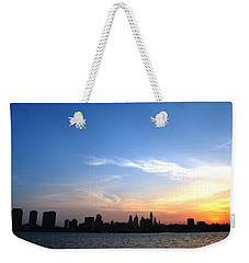 Philadelphia Skyline Low Horizon Sunset Weekender Tote Bag
