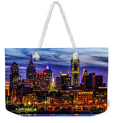 Weekender Tote Bag featuring the photograph Philadelphia Skyline by Nick Zelinsky