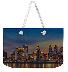 Philadelphia Skyline Panorama Weekender Tote Bag by Susan Candelario