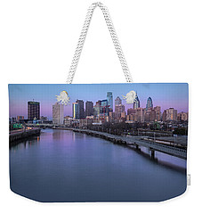 Philadelphia Skyline Pastels Weekender Tote Bag by Susan Candelario