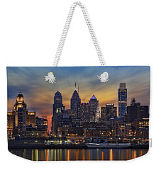 Philadelphia Skyline Weekender Tote Bag by Susan Candelario