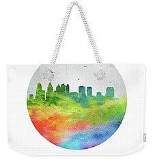 Philadelphia Skyline Uspaph20 Weekender Tote Bag by Aged Pixel
