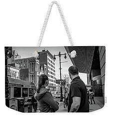 Weekender Tote Bag featuring the photograph Philadelphia Street Photography - Dsc00248 by David Sutton