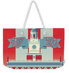Philadelphia Vintage Travel Poster Weekender Tote Bag