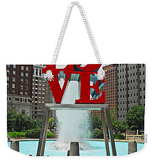 Philadelphia's Love Park Weekender Tote Bag by Cindy Manero