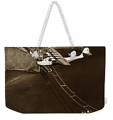 Philippine Clipper A Pan Am Clipper Over The Golden Gate Bridge  1935 Weekender Tote Bag