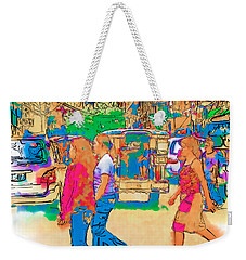 Philippine Girls Crossing Street Weekender Tote Bag
