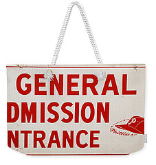 Phillies General Admission Sign From Connie Mack Stadium Weekender Tote Bag