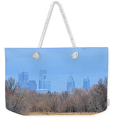 Philly From Afar Weekender Tote Bag by Kathy Eickenberg