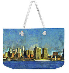 Philly Skyline Weekender Tote Bag by Trish Tritz