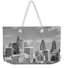Philly Skyscrapers Black And White Weekender Tote Bag
