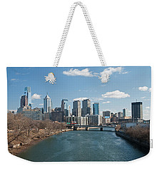 Philly Winter Weekender Tote Bag by Jennifer Ancker
