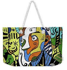Weekender Tote Bag featuring the digital art Philosopher by Sotuland Art