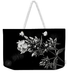 Phlox In Black And White Weekender Tote Bag