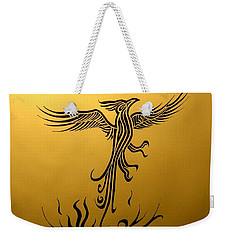 Weekender Tote Bag featuring the drawing Phoenix by Michelle Dallocchio