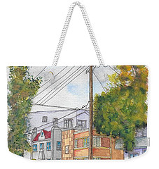 Phole Pole In Hawthorn And Fuller, Hollywood, California Weekender Tote Bag