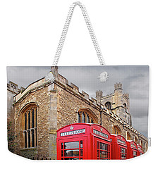 Weekender Tote Bag featuring the photograph Phone Home - Gt St Marys Church Cambridge by Gill Billington