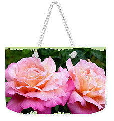 Weekender Tote Bag featuring the photograph Photogenic Peace Roses by Will Borden