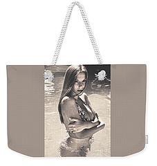 Photograph Vintage Summer Look With Woman In Bikini #8624m Weekender Tote Bag