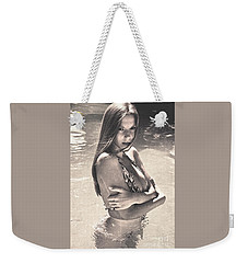 Photograph Vintage Summer Look With Woman In Bikini #8624m Weekender Tote Bag