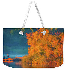 Photographing The Sunrise Weekender Tote Bag by Marc Crumpler