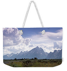 Photographing The Tetons Weekender Tote Bag by Dawn Romine