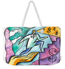 Weekender Tote Bag featuring the painting Physician And Money by Leon Zernitsky