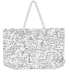 Weekender Tote Bag featuring the drawing Physics Forms by Gina Dsgn