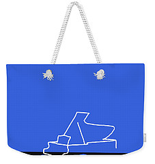 Weekender Tote Bag featuring the digital art Piano In Blue by Jazz DaBri