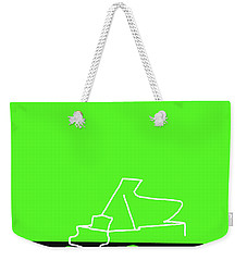 Weekender Tote Bag featuring the digital art Piano In Green by Jazz DaBri