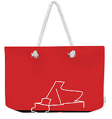 Weekender Tote Bag featuring the digital art Piano In Red by Jazz DaBri