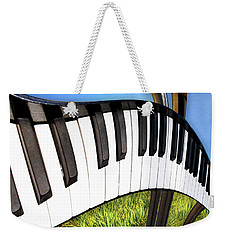 Weekender Tote Bag featuring the photograph Piano Land by Paul Wear