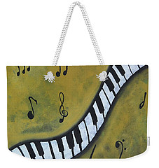 Piano Music Abstract Art By Saribelle Weekender Tote Bag