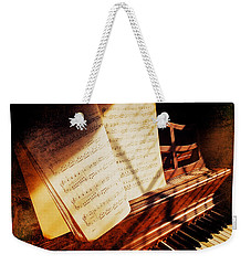Piano Sheet Music Weekender Tote Bag