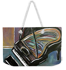 Piano With High Heel Weekender Tote Bag