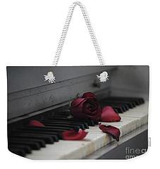 Piano With Vintage Rose Weekender Tote Bag