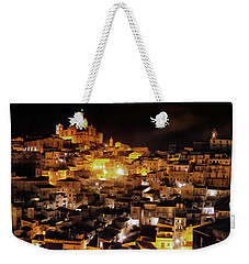 Piazza Armerina At Night Weekender Tote Bag